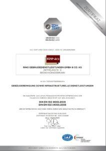 DIN EN ISO 9001 und 14001 Zertifikat RiNo 2020